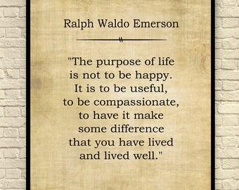 ralph waldo emerson print ralph waldo emerson quote custom art print book page - Book Page Print