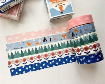 Set of 5 - Scandinavian Washi Tape