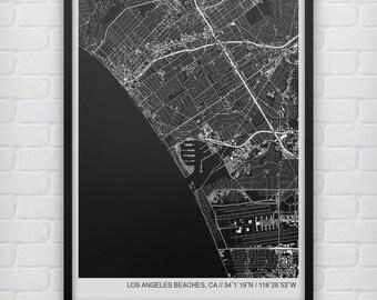 Los Angeles Beaches Map