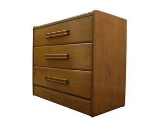Mid Century Bachelor Chest/Dresser Danish Modern Heywood Wakefield Wheat