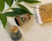 Vintage Cloisonne Thimbles  -  Collectors Thimbles  - Vintage Cloisonne - Sewing Accessory - Thimbles - Australian Seller