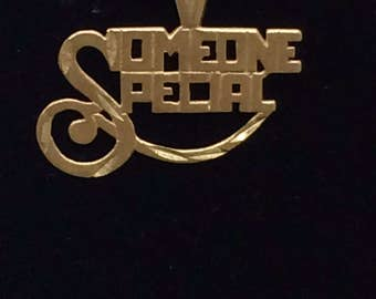 "1980's 14K Yellow Gold ""SOMEONE SPECIAL"" CHARM Pendant"