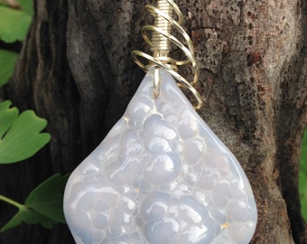 Nevada Mount Airy Blue Agate Necklace