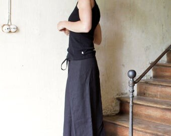Custom made Linen skirt, Long skirt, Wrap skirt, Eco friendly linen