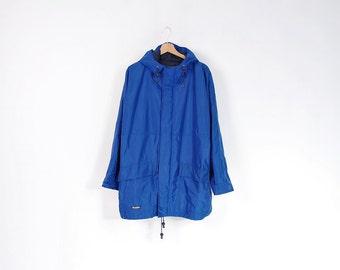 10% OFF SALE - Vintage Kandahar Blue Hooded Waterproof Windbreaker Jacket / Size XL