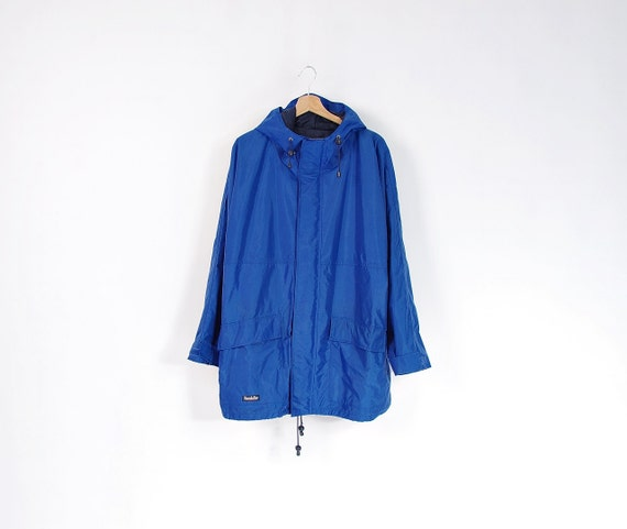 SALE - Vintage Kandahar Blue Hooded Waterproof Windbreaker Jacket / Size XL