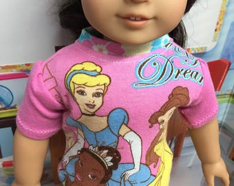 Up-Cycled Princess Shirt for American Girl Dolls or any 18 inch doll