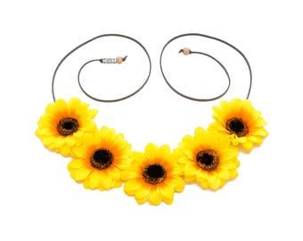 Sunflower Flower Crown, Flower Headband, Hippie Headband, Festival Headband, Bohemian Headband, BoHo Headband, Festival Clothing, EDC Crown