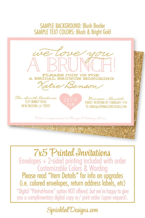 Bridal shower invitation bridal brunch invites brunch bubbly il570xn stopboris Gallery