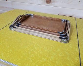 Set of 4 Mid Century Japanese Nesting Trays