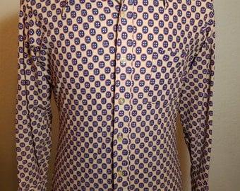 FREE  SHIPPING  1970 Abstract Men Shirt