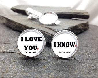 I Love You, I know Cufflinks, personalized cufflinks
