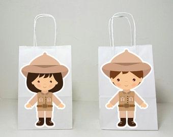 Safari Goody Bags, Jungle Goody Bags, Zookeeper Goody Bags, Safari Birthday, Safari Party