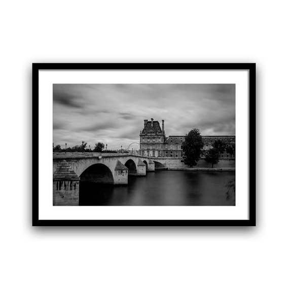 Louvre Museum Paris, Paris photography, French Wall Decor, Photos of Paris, Paris Print, Black and White, 5x7 8x10, Paris Wall Art