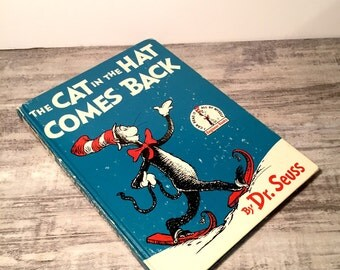 The Cat In The Hat Comes Back, Dr. Seuss Book, 1958, Sequel, Early Printing, Beginner Books, Vintage Childrens Book, Random House