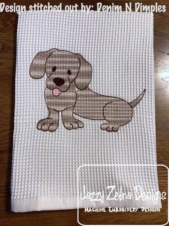 Dachshund sketch embroidery design - dog sketch embroidery design - dog embroidery design - Dachshund embroidery design - puppy embroidery