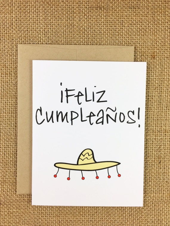 birthday card spanish feliz cumpleaños by greatscottdesign, Birthday card