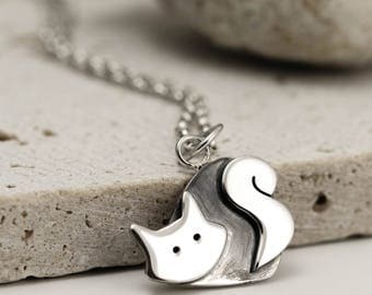Cat Necklace - Sterling Silver Cat Jewellery - Cat Lover Gift
