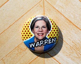 Elizabeth Warren- Democrat Politics Political- One Inch Pinback Button