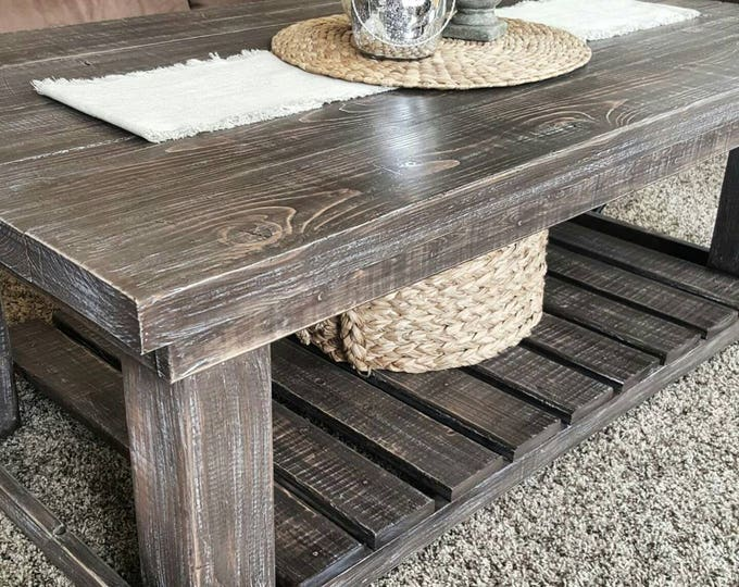 Coffee Table - Farmhouse Coffee Table - Rustic Coffee Table - Coffee Table