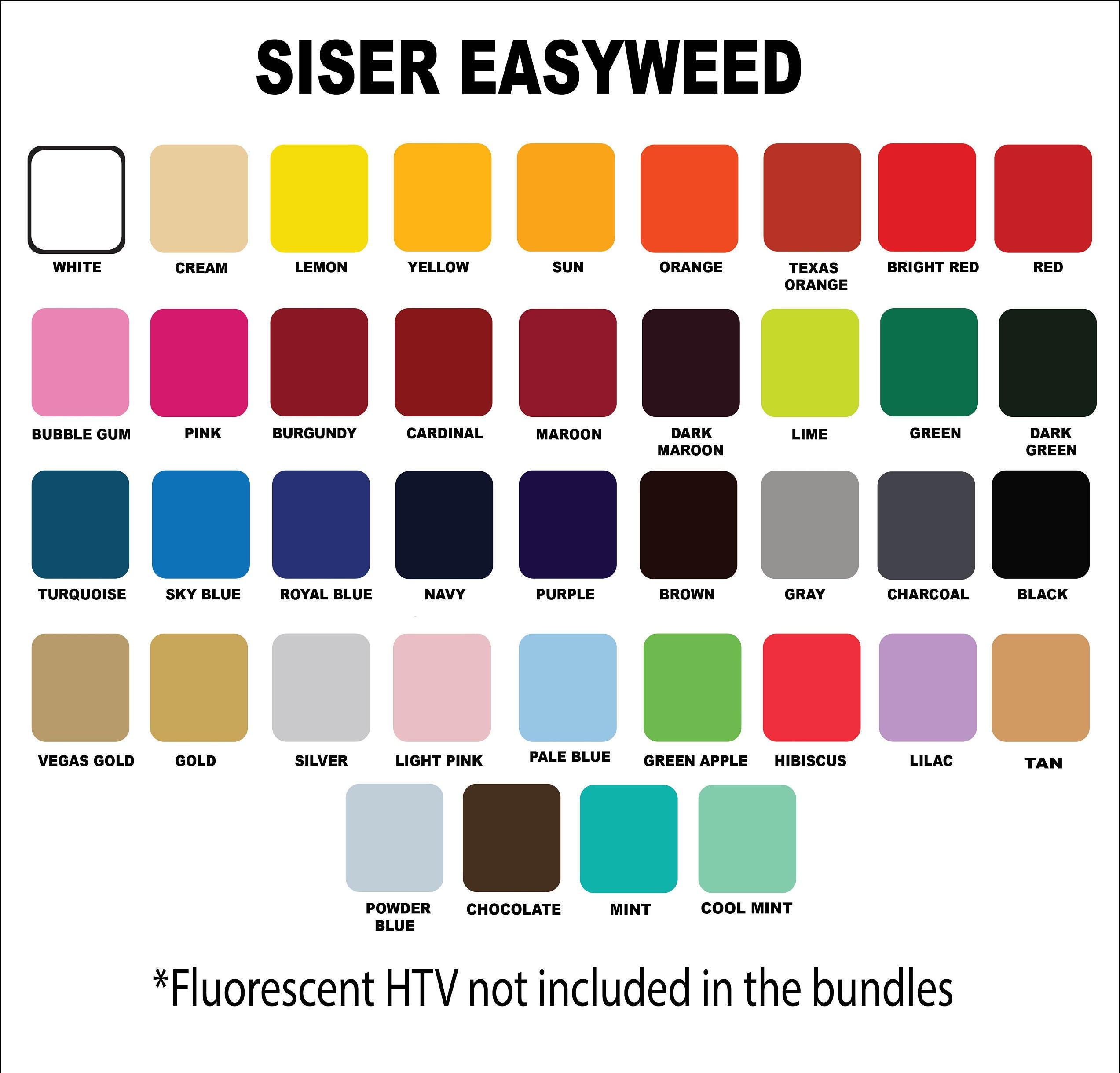 Siser Easyweed Heat Transfer Vinyl 12 X 15 10