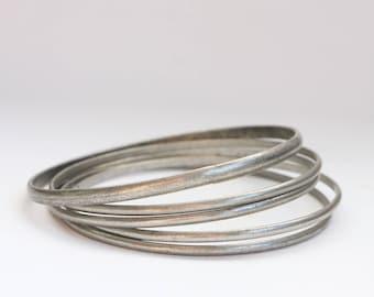 Antique Silver Bangles - Set of 5 Silver Bangles - Vintage Silver Bangles - Silver Bangles