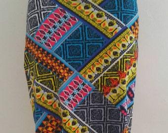 Womens Pencil Skirt Aztec Print Knee Length Skirt Size Medium Comfort Skirt Bold Print Casual Pencil Skirt Jersey Everyday Skirt for Women