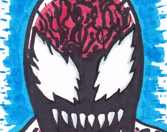 """Carnage ACEO trading card2 1/2"""" x 3 1/2"""""""