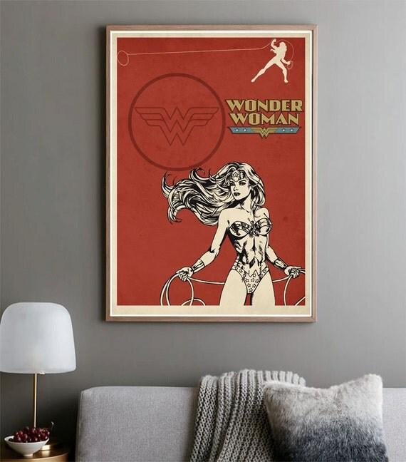 Wonder Woman Movie Poster Film Poster Minimalist Print