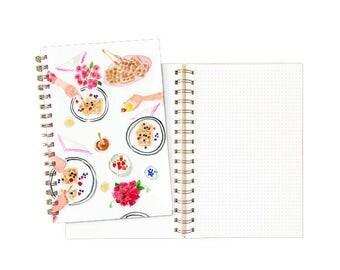 Gold Spiral Notebook: A Brunch of Ideas