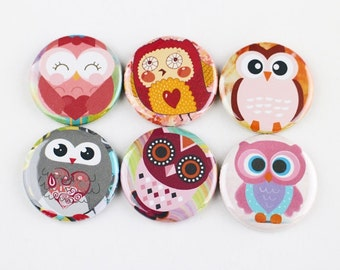 "1.25"" fridge magnet,owl baby shower giveaway gift refrigerator magnet, locker magnet"