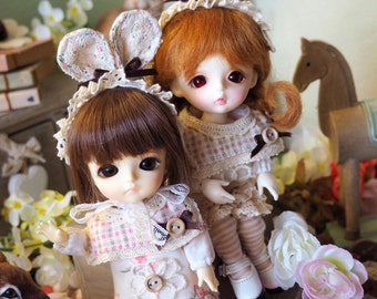 bjd doll outfit clothes - Bunny Set for lati yellow fl pukifee girl