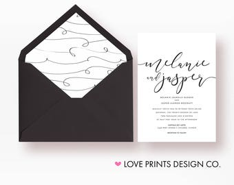 Wedding Invitation, Wedding Invitation Template, Wedding Invitation Suite, Wedding Invitation Printable, Wedding Invites