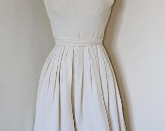 50s Creme White Dress