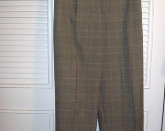 Vintage Eddie Bauer Plaid Pants 16 TALL  Wonderful Career Find.  See details