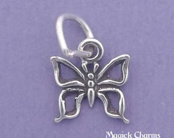 BUTTERFLY Charm .925 Sterling Silver MINIATURE Small - elp504