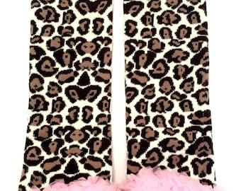 Leopard Ruffle Leg Warmers