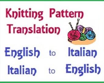 Traduzioni maglia uncinetto Inglese Italiano