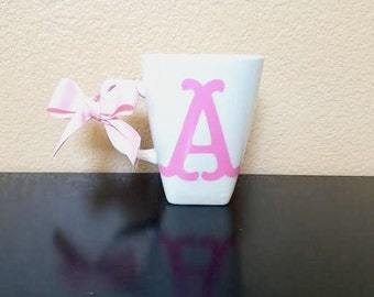 Initial Coffee Cup - Initial Coffee Mug - Personalized Gift  - Personalized Mug - Personalized Cup - Monogram Coffee Mug - Bridesmaid Gift