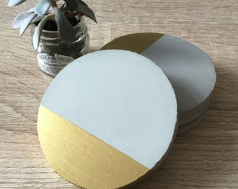 Concrete Coasters - Set of 4