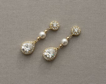 SABRINA | Bridal Earrings, Wedding Earrings, Rhinestone Earrings