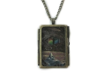 Smaug the Dragon - LOTR OOAK Collage Locket Necklace
