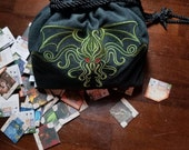 Embroidered Lined XL Drawstring Tile/Dice Bag - Made to Order