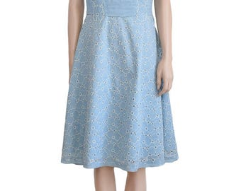 Vintage Dress, Blue Flower Dress, Blue Dress, Vintage Floral Dress, Vintage 1990s, Odille Dress, Weddings, Party Dress, Spring Fashion