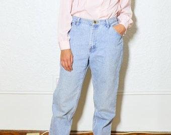 Vintage Pink Pleated Blouse