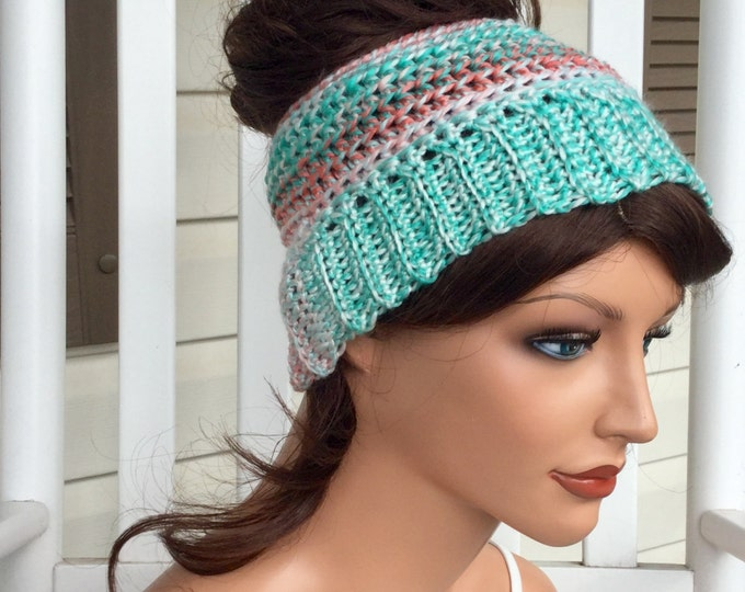 Bright Messy Bun Crochet Hat, Winter Ponytail Hat, Bun Beanie for Women or Teens, Warm Ponytail Hat for Runners, Colorful Warm Bun Hat