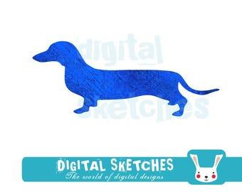 Dachshund Dog Cut File .SVG .DXF