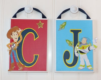 Toy Story Bedroom Decor Hanging Name Letters Disney Pixar Decor Toy Story