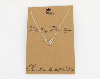 Whale Necklace // Dainty Necklace • Nautical Jewellery • Orca Necklace • Whale Jewellery • Silver Necklace • Gift for Her
