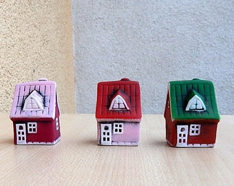 House of natural clay, Miniature ceramic house, tiny house clay, small building, clay houses miniature house, unique houses